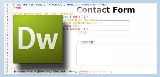 free php templates for dreamweaver - contact form in dreamweaver